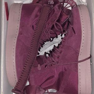 High top Air Force ones with straps!!!!